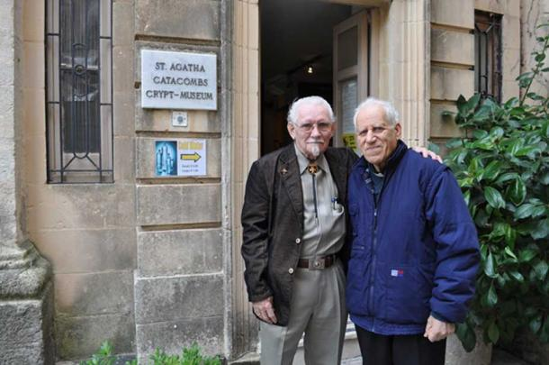Dr Peter J Shields and Father Victor Camilleri MSSP, 2010. (Image: Courtesy Peter J. Shields)