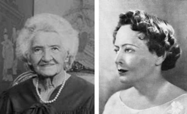 Dr. Elisabeth Caspari and Gloria Gasque