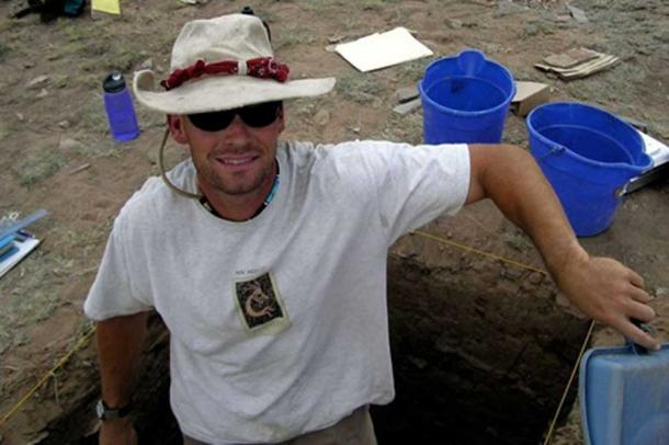 "Dr. Kantner in the field – The study of ancient fingerprints ""helps explain why these people were able to actually live in places that no one can live in today."" (John Kantner / UNF)"