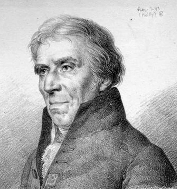 Drawing of Philippe Buache.