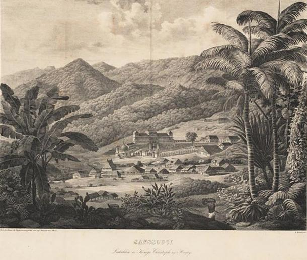 Drawing of Sans-Souci Palace (1826), Carl Ritter