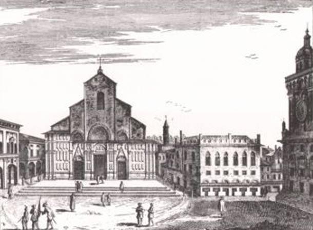 Drawing of the Basilica of San Petronio.