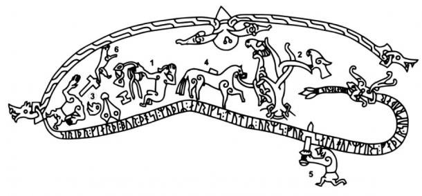 Drawing of the Sigurd Saga (Public Domain)