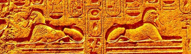 Detalle de las esfinges Dream Stele. (Autor proporcionado)