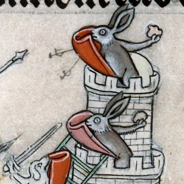 Drolleries of the Middle Ages included rabbits engaged in acts of violence. (Kallinikov / Public Domain)