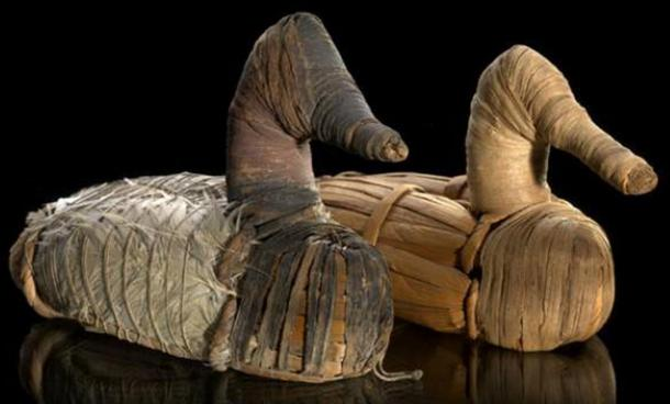 Pictures are some Duck Decoys, circa 400 BC – AD 100, they are on display at the National Museum of the American Indian of the Smithsonian Institute.