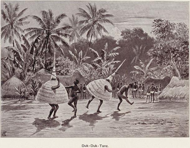 Duk Duk dancers 1899. (Lysippos / Public Domain)
