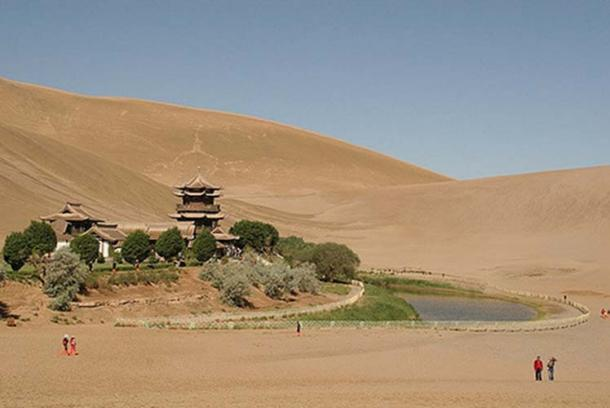 The letters were found outside Dunhuang, pictured