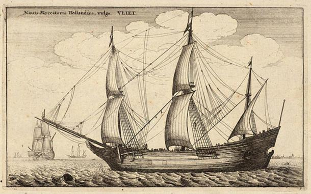 Dutch fluyt, 1677.