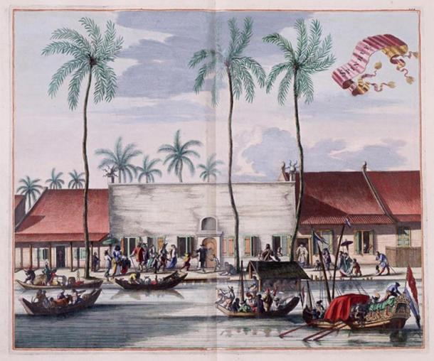 Dutch settlement in the East Indies. Batavia (now Jakarta), Java, c. 1665