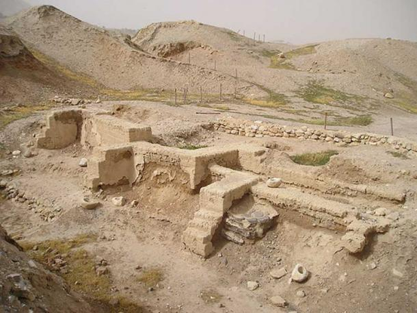 Dwelling foundations unearthed at Tell es-Sultan in Jericho.