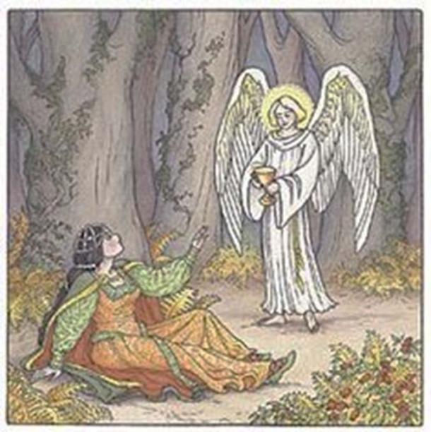 St. Dwynwen meets an angel.