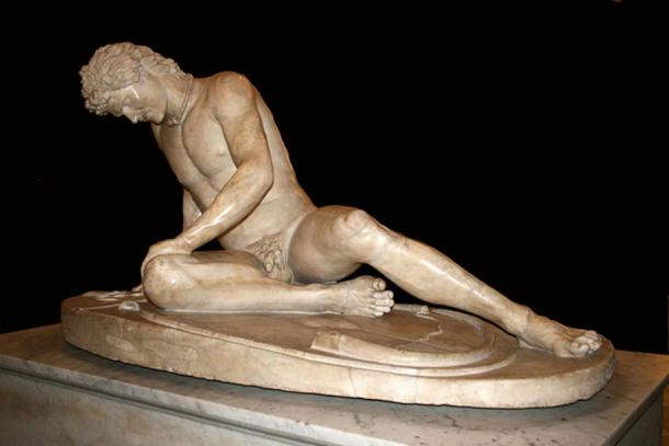 The Dying Gaul, in the Capitoline Museums, Rome.