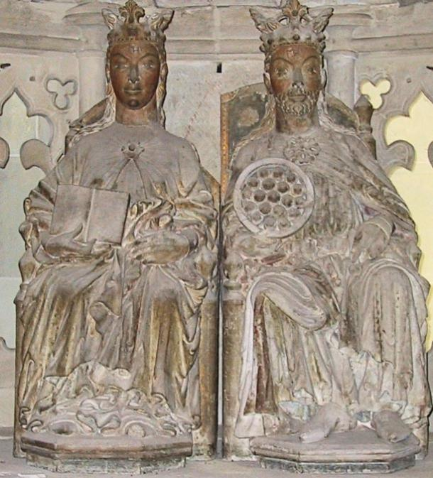 Eadgyth and her husband Otto I, Magdeburg Cathedral.