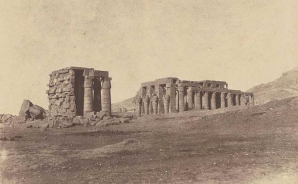 Earliest photos of Ramesseum, 1854 by John Beasley Greene.