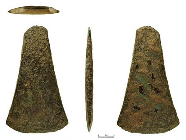Early Bronze Age bronze flat axe of Migdale type.