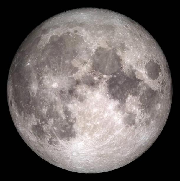 This NASA photo shows the Earth's moon as it will appear on December 25, 2015, the first Christmas full moon since 1977.