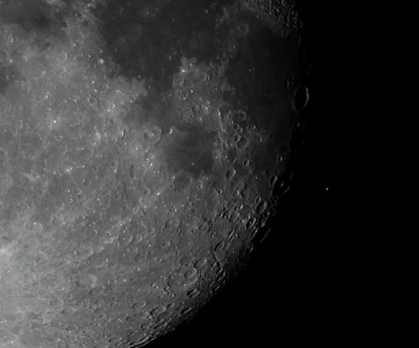 Earth's moon occults Aldebaran
