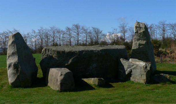 Easter Aquhorthies recumbent stone circle, Aberdeenshire, Scotland.