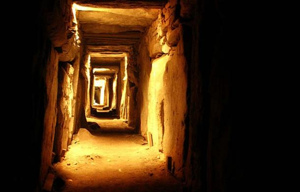 Eastern Passage inside the megalithic site of Knowth, Co. Meath, Ireland.