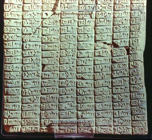 One of the Ebla Tablets.
