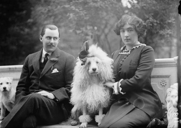 Washington Post scion Edward Beale McLean and his wife, mining heiress Evalyn Walsh McLean, in 1912. The couple owned the diamond for many years.