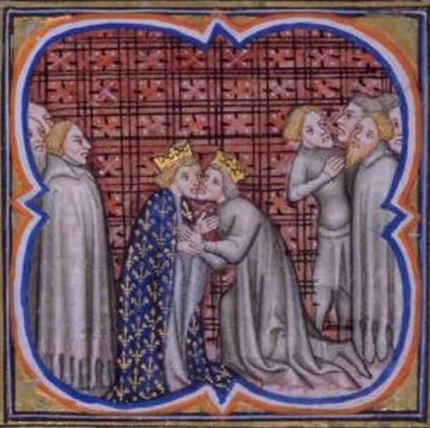Edward I of England doing homage to Philip.