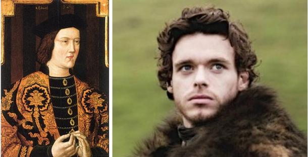 Edward IV (Wikimedia Commons) compares with Robb Stark (Andromeda-6/Deviant art)