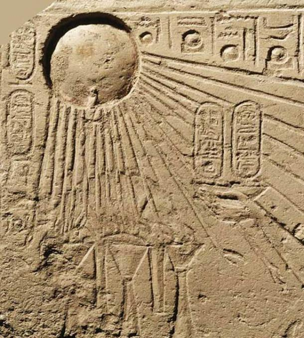 The Egyptian Aten symbol that may originally have depicted the magnificent comet of 1486 BC.