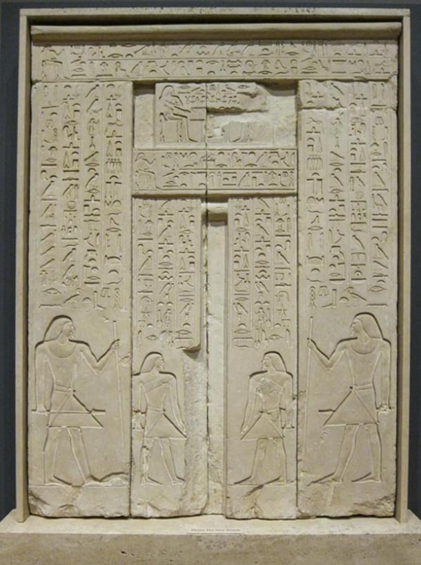 High Quality Egyptian False Door, C 2400 BC