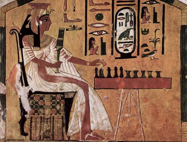 The Egyptian game Senet.