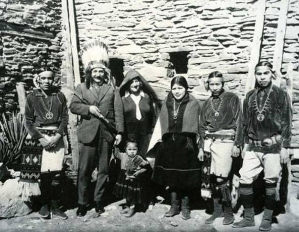 Einstein with Hopi, early 20th Century.