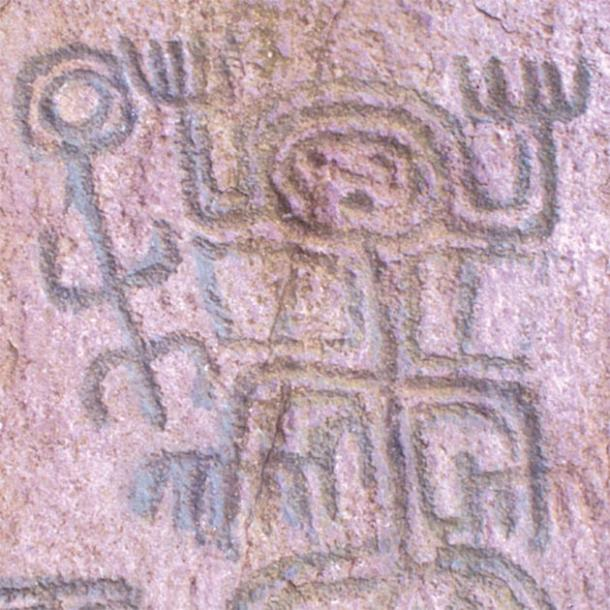 El Abra, petroglyph of the six-limbed Squatting-man design. (Public Domain)