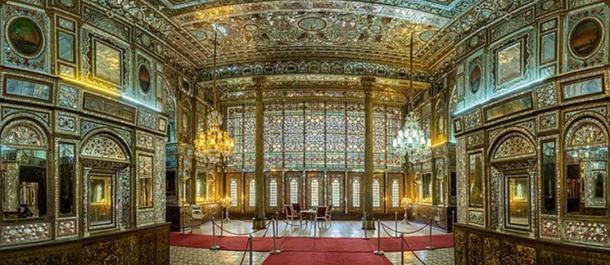Elaborate decoration in Golestan Palace, Tehran, Iran.