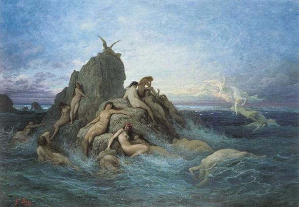Elektra, wife of Thaumas, was an Oceanid - Naïads of the Sea. (Gustave Doré / Public Domain)