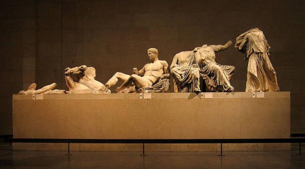 Elgin Marbles/Parthenon Marbles on display at The British Museum.