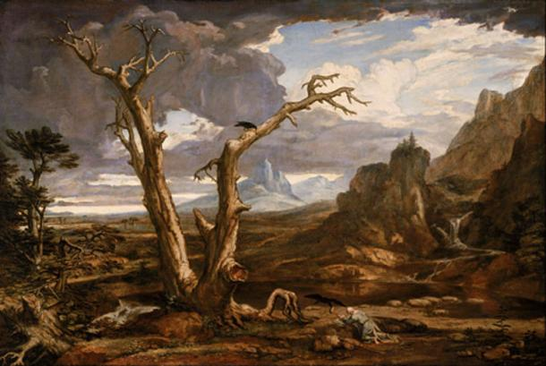 'Elijah in the Desert' (1818) by Washington Allston.
