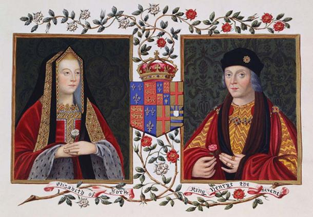 Double Portrait of Elizabeth of York and Henry VII Holding The White Rose of York. (Jappalang / Public Domain)