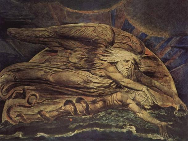 Elohim created Adam by William Blake