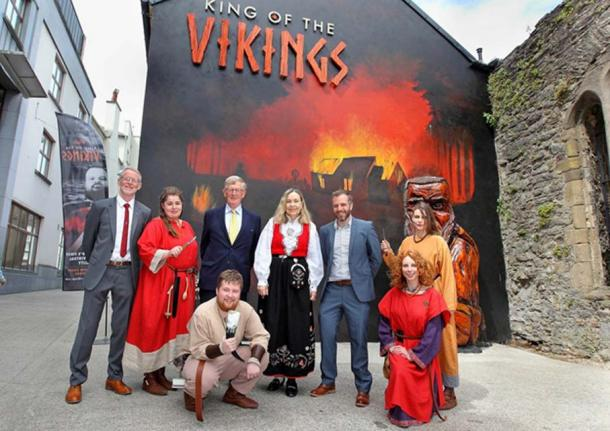 Else Berit Eikeland (center) at King of the Vikings Exhibit, Waterford, Ireland