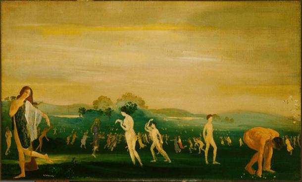 Elysian Fields by Arthur Bowen Davies (1862–1928) Phillips Collection (Public Domain)