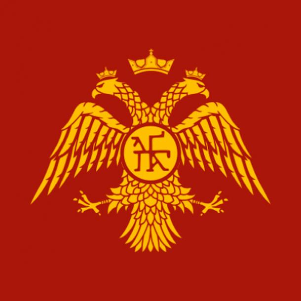 Emblem of the Palaiologos Dynasty. The double-headed eagle motif was used as the emblem of the Eastern Roman Empire (Byzantine Empire) during the 14th and 15th centuries