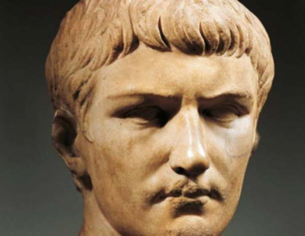 A marble bust of Emperor Caligula