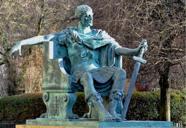 Modern bronze statue of the Emperor Constantine in York, England. The Vandals asked Constantine to stay in Pannonia when they escaped the Goths.