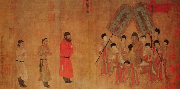 Emperor Taizong Receiving the Tibetan Envoy