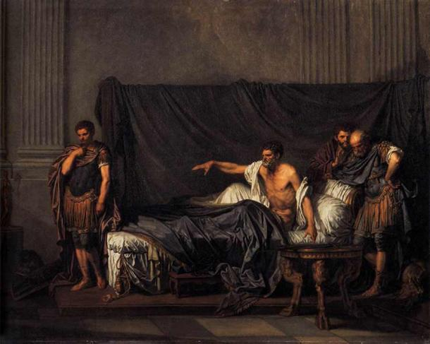 Emperor Severus reproaching Caracalla for his attempted assassination. (Public domain)