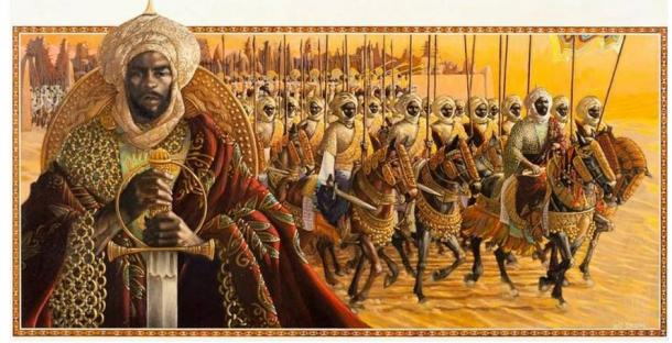 Artistic representation of the 'Empire of Mansa Musa
