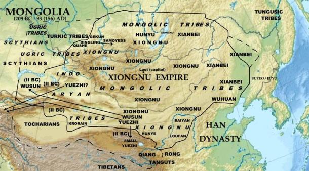The Xiongnu Empire and the long-lost nomad Dragon City near Luut (Khiruge / CC BY-SA 4.0)
