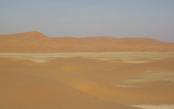 Empty Quarter in the general region where O'Shea claimed to have found Qidan.