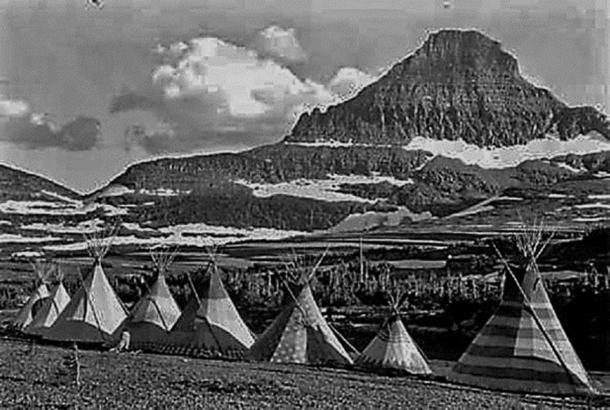 Encampment in the Tetons (Edward Curtis, Author provided)